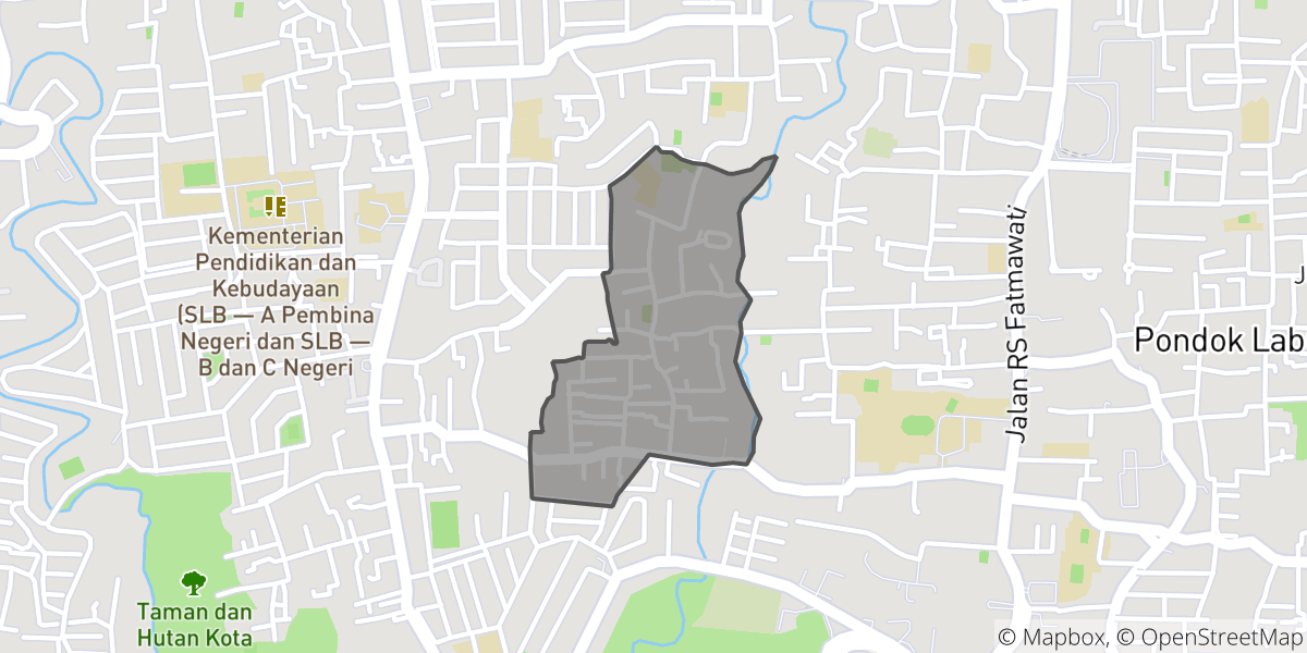 Map of affected area