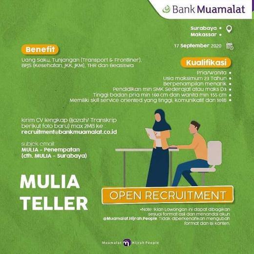 Lowongan Bank Muamalat Cabang Surabaya dan Makassar ...