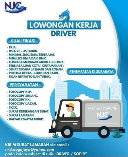 Lowongan Kerja Driver Supir Surabaya Atmago