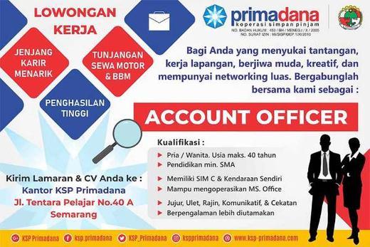 Lowongan Karyawan Koperasi Semarang Indah Pratiwi Di Semarang Kota 23 Oct 2020 Loker Atmago Warga Bantu Warga