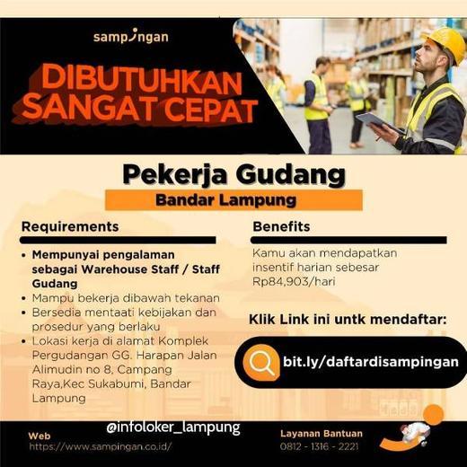 Lowongan Kerja Loker Terbaru Di Bandar Lampung Atmago