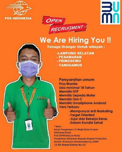 Lowongan Oranger Pt Pos Indonesia Lampung Atmago