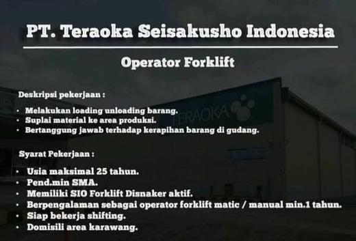 Operator Forklift Karawang Atmago
