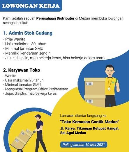 Lowongan Kerja Loker Terbaru Di Medan Kota Atmago