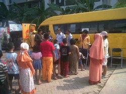 1180 small 3 bus sekolah beroperasi di rusun marunda