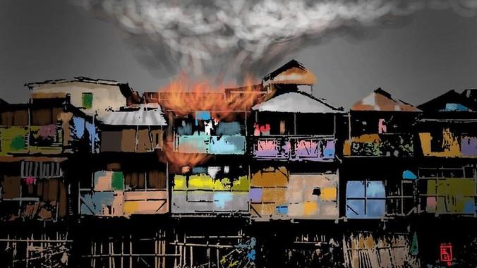 12754 medium kebakaran rumah di kemayoran  18 unit damkar meluncur ke tkp