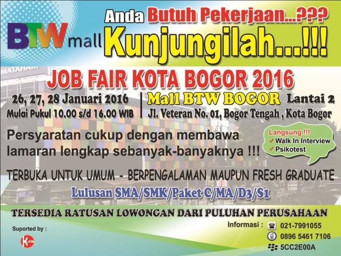 13236 medium jobfair kota bogor 2016