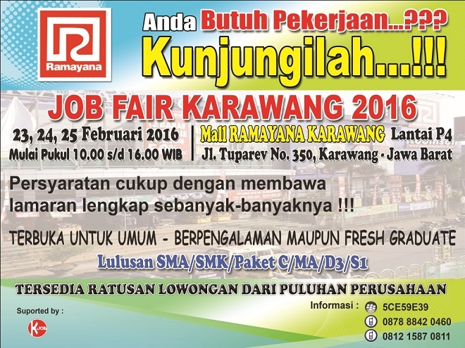 13278 medium job fair karawang