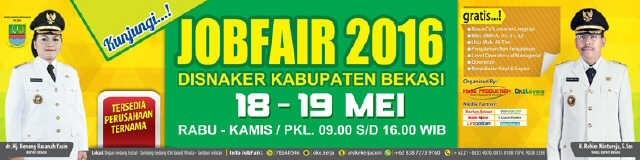 13362 medium job fair disnaker kabupaten bekasi 2016