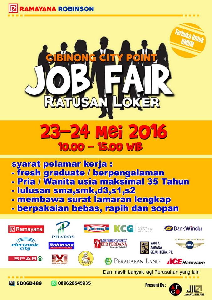 13366 medium job fair cibinong city point