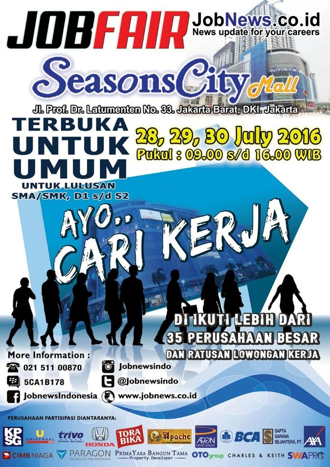 13419 medium job fair jobnews season city mall %e2%80%93 juli 2016