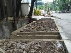 1342 small perbaikan trotoar jl tanah abang iii dilanjutkan