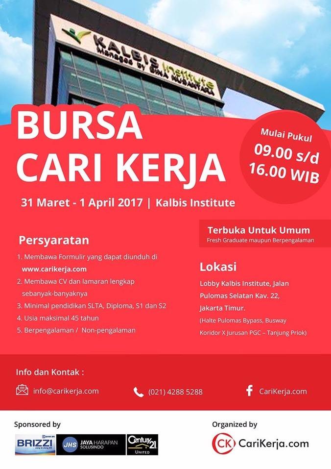 Info Karir Bursa Cari Kerja Kalbis Institute 2017 Atmago 29 Mar 2017 Loker Atmago Warga Bantu Warga