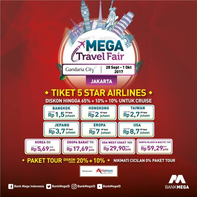 16968 medium mega travel fair jakarta
