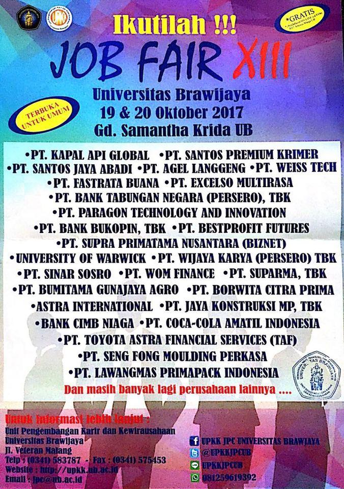 17343 medium job fair xiii universitas brawijaya 2017