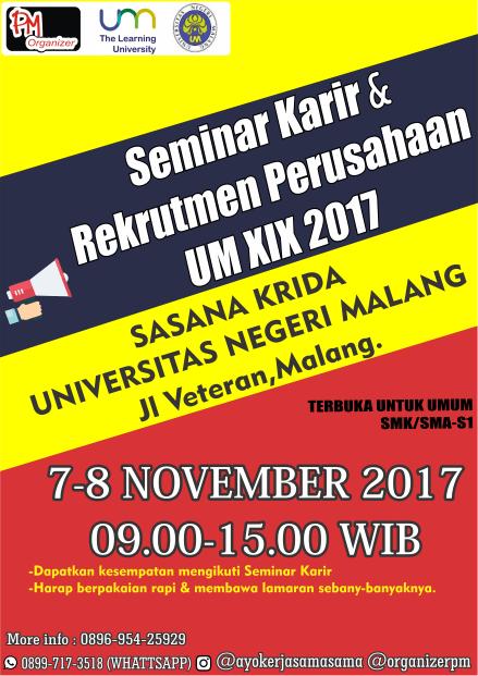 18192 medium seminar karir   rekrutmen perusahaan um xix 2017