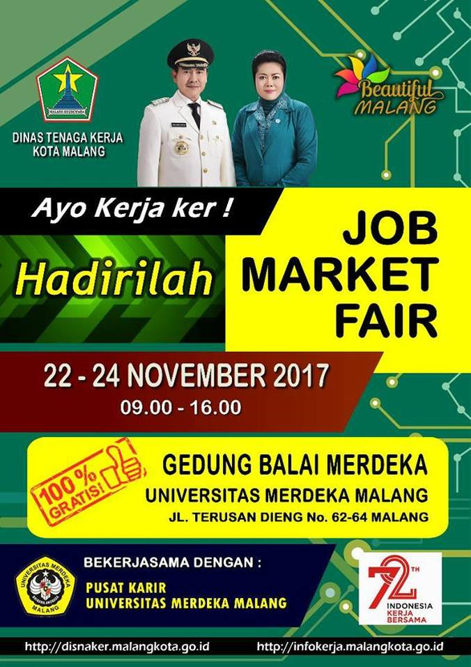 18453 medium job market fair unmer malang 2017