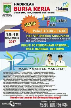 18487 small job market fair malang 2017