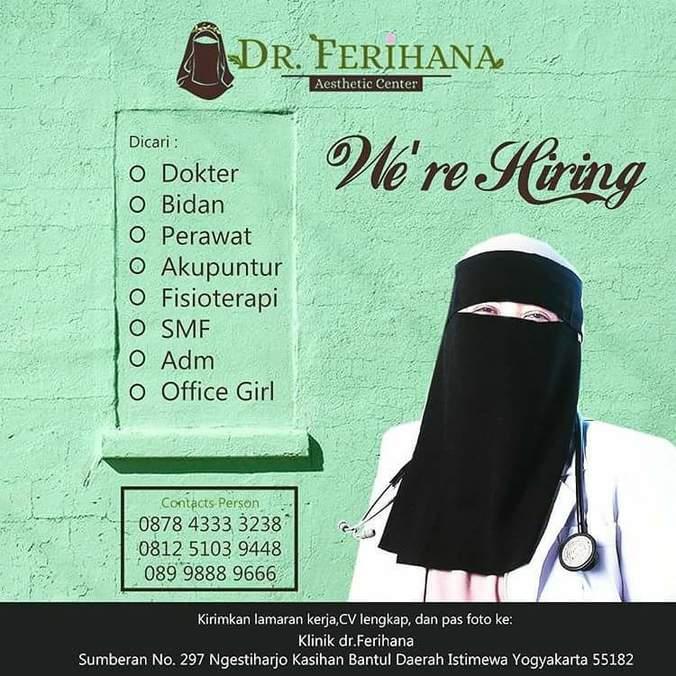 Lowongan Kerja Klinik Dr Ferihana 𝙈𝙊𝙃𝘼𝙈𝙈𝘼𝘿 𝙅𝘼𝙀𝙉𝙐𝘿𝙄𝙉 Di Bantul 23 Nov 2017 Loker Atmago Warga Bantu Warga