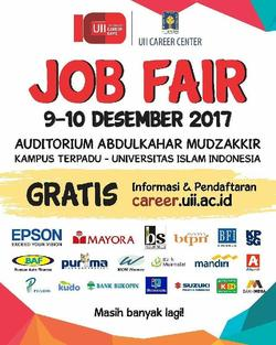 19069 small job fair uii integrated career days %e2%80%93 desember 2017