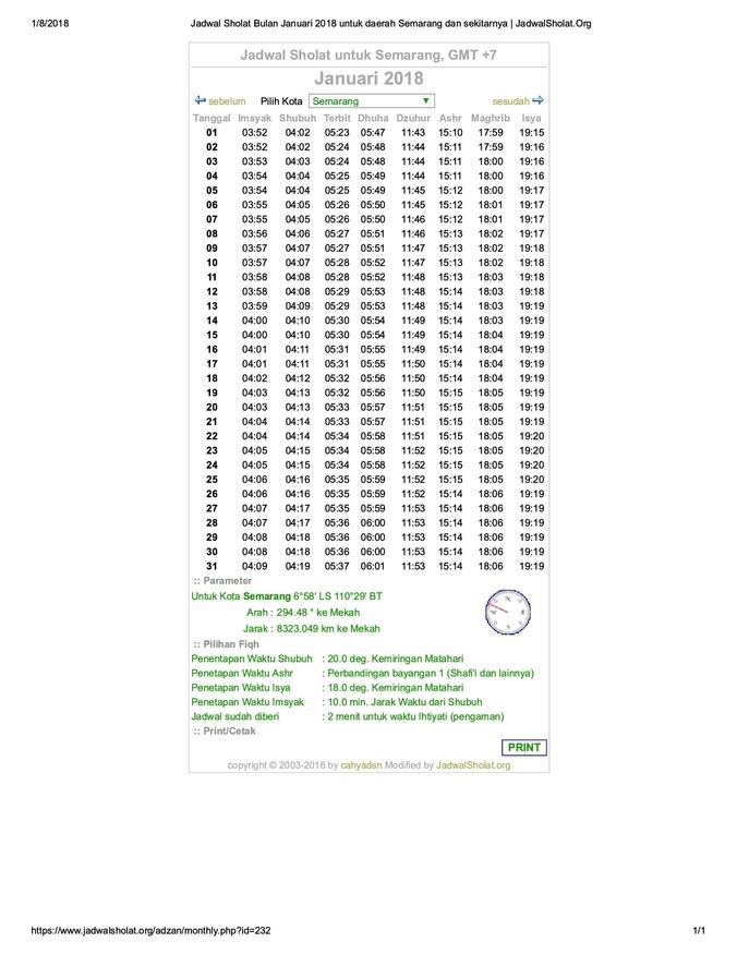 20138 medium jadwal sholat bulan januari 2018 untuk ...rang dan sekitarnya   jadwalsholat.org