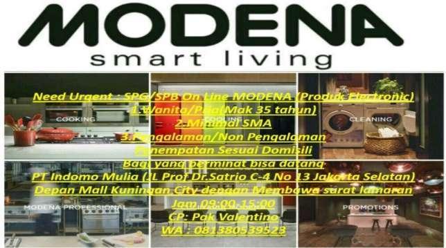 20725 medium urgent.. dibutuhkan spgspb online mitra modena
