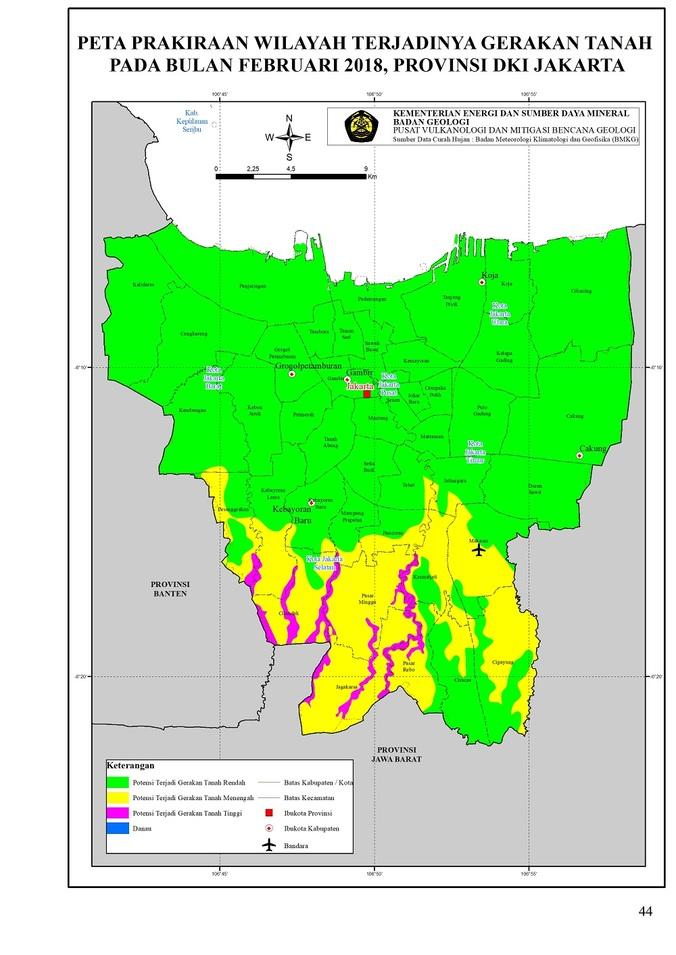 21003 medium peringatan dini wilayah potensi pergerakan tanah di provinsi dki jakarta pada bulan februari 2018