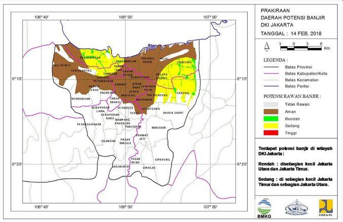 21470 medium peta prakiraan daerah potensi banjir harian di dki jakarta   12 februari 2018