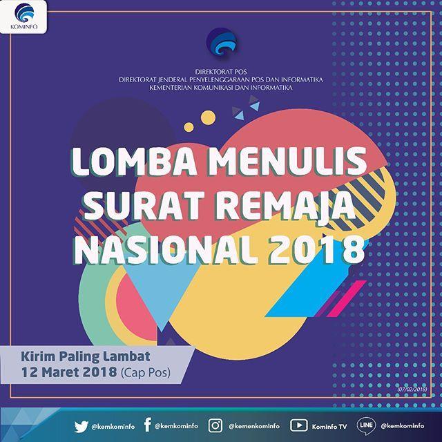 21615 medium lomba menulis surat remaja nasional 2018