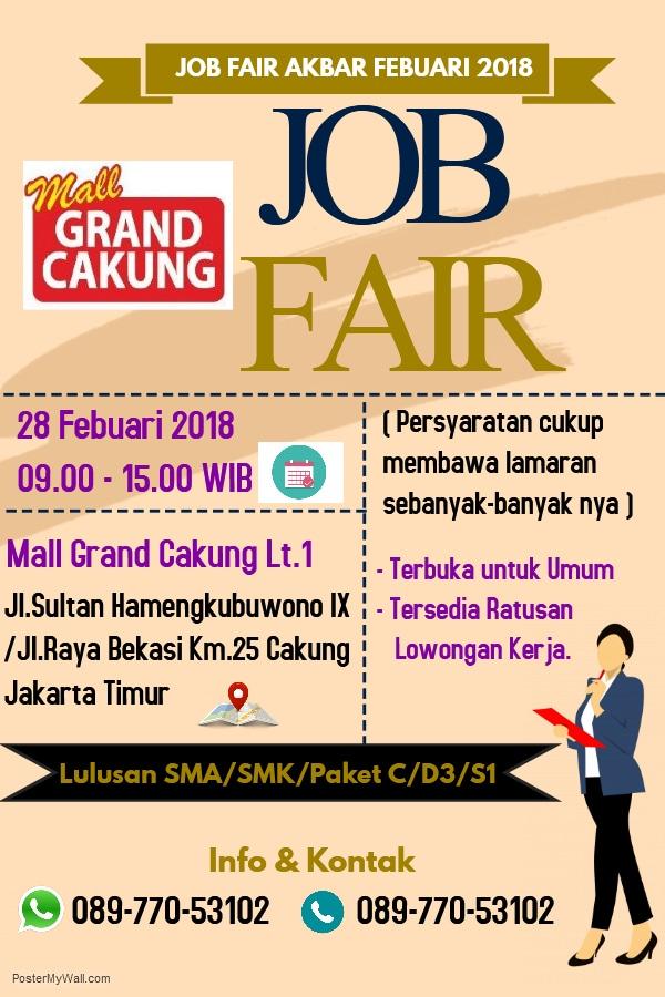 Job Fair Grand Cakung Februari 2018 Wiwin Anastasia Di Jakarta Timur 19 Feb 2018 Acara Atmago Warga Bantu Warga