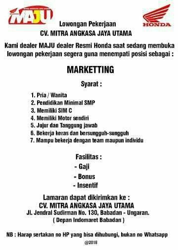 Lowongan Kerja Rima Bundanya Rauf Di Ungaran Barat Semarang 23
