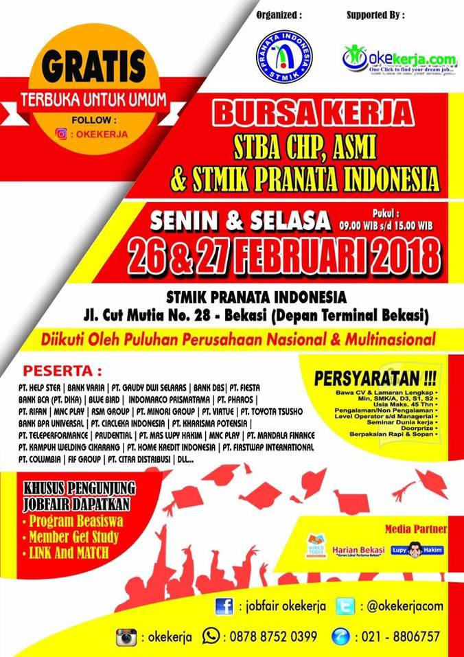 22012 medium job fair stmik pranata %e2%80%93 februari 2018