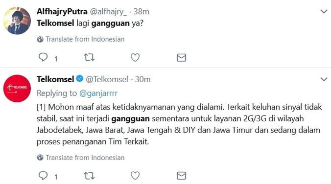 Gangguan Jaringan Telkomsel Wisnu Artedjo Di Jakarta Pusat 27 Feb 2018 Berita Warga Atmago Warga Bantu Warga