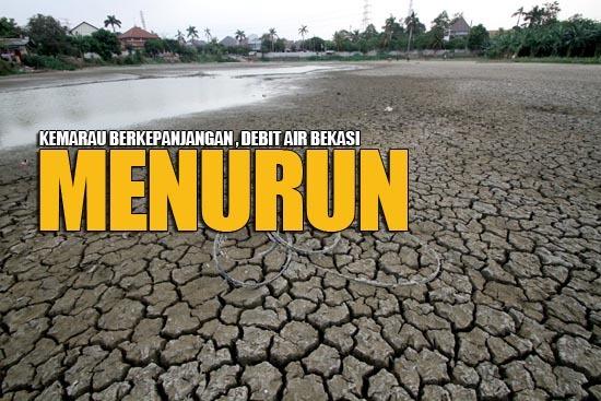 225 medium debit air bekasi menurun