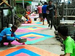 23479 small lima rw di penjaringan realisasikan gerakan kampung warna warni