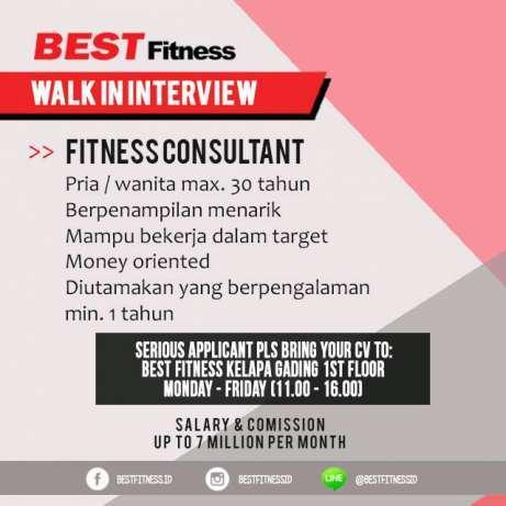 23687 medium fitness consultant di kelapa gading  serpong  dan pantai indah kapuk