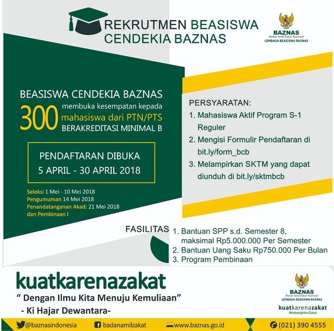 23708 medium rekrutmen beasiswa cendekia baznas