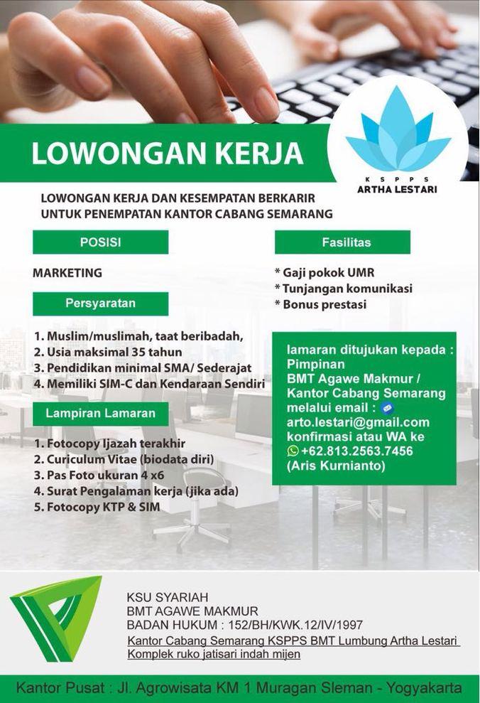Lowongan Kerja Bmt Agawe Makmur Semarang Hamim Masrur Di