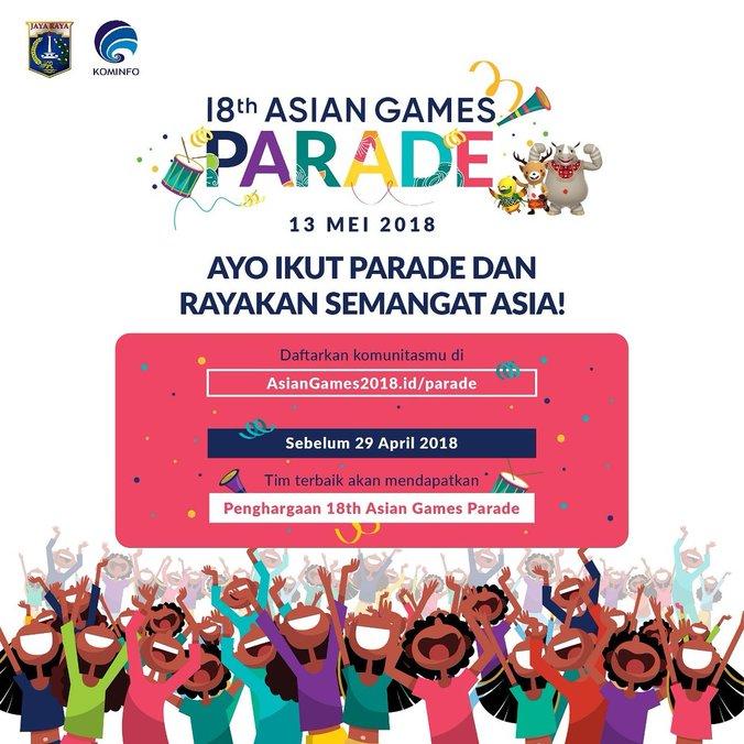 24119 medium parade asian games 2018