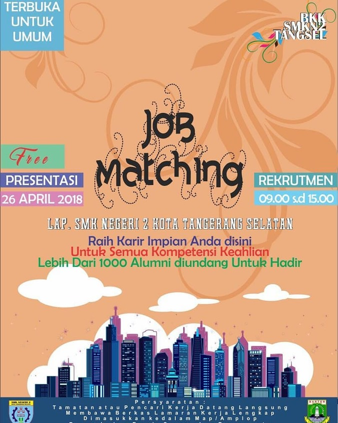 24526 medium job matching smkn 2 tangsel 2018