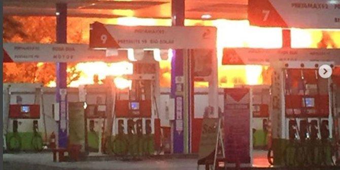 25029 medium kebakaran dekat spbu jalan abdul muis  jakarta pusat