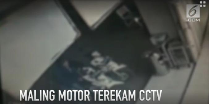 25201 medium rekaman cctv maling motor di serpong