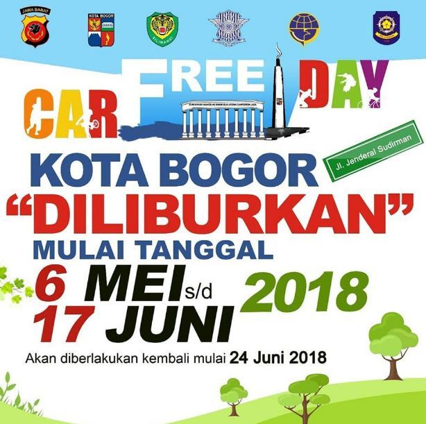 25214 medium car free day bogor ditiadakan 6 mei sd 17 juni 2018