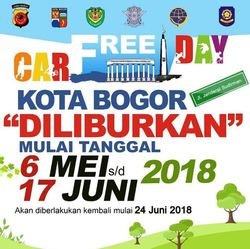 25214 small car free day bogor ditiadakan 6 mei sd 17 juni 2018