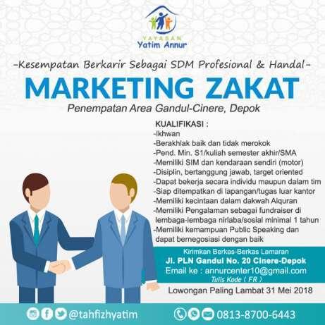 25601 medium dibutuhkan karyawan handal untuk staff marketing zakat  infaq  shadaqah