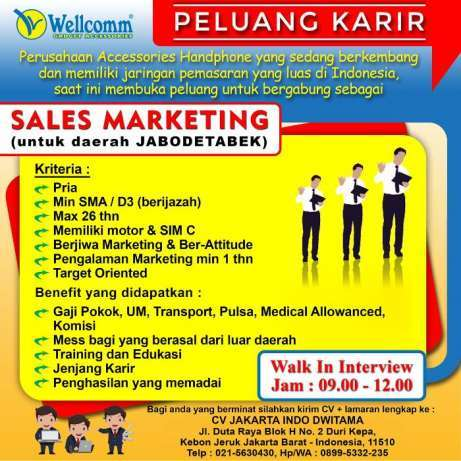 25980 medium dibutuhkan sales marketing gadget asesoris