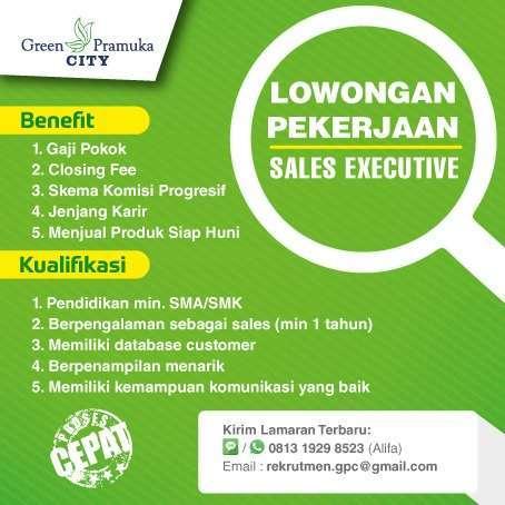 26542 medium lowongan sales executive apartemen