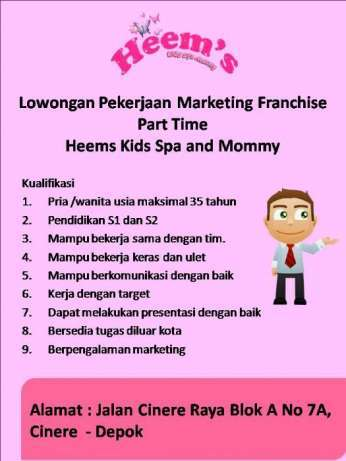 27480 medium lowongan pekerjaan marketing franchise part time