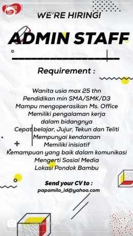 27658 medium lowongan staff admin