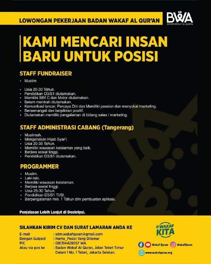 Lowongan Kerja Loker Terbaru Di Tebet Jakarta Selatan Atmago